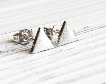 Triangle earrings - 925 Sterling Silver Edition