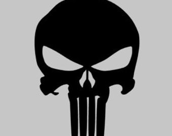 Punisher Skull Decal | Punisher Car Decal | Punisher Yeti Decal | Punisher Sticker | Skull Decal
