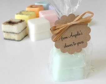 12 Mini Shower Favors w/2 Soaps, Baby Shower and Bridal Shower Favor, Handmade Mini Soap Favors, Ready to Ship Favors, Affordable Favors