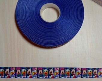 7/8 inch Grosgrain Ribbon - Disney Characters