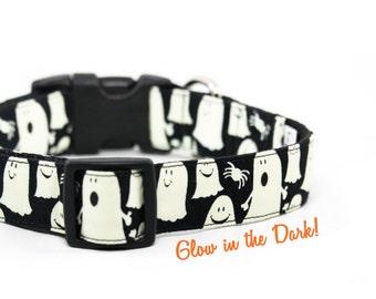 Glow in the Dark Ghost Dog Collar Halloween Dog Collar