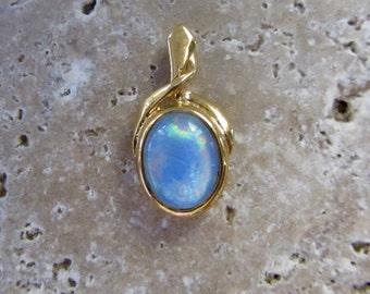 Opal Pendant set in gold