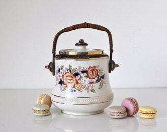 Vintage English Biscuit Jar Samuel Johnson Ltd.