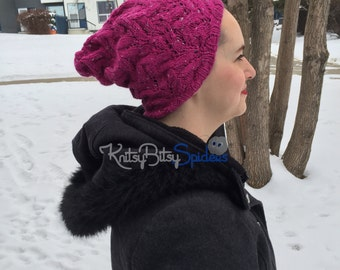 Sparkly Pink Slouch Hat - READY TO SHIP