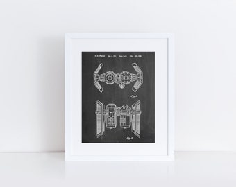 Star Wars TIE Bomber Patent Poster, Starwars TIE Bomber Patent, Star Wars Art, Star Wars Party, Star Wars Ships, PP0102