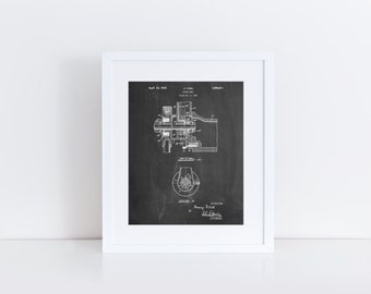 Water Pump Patent Poster, Car Part Art, Henry Ford, Car Lover, Mechanic Gift, Car Enthusiast, PP0850