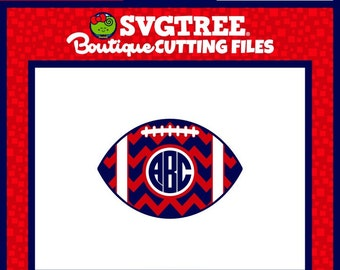 Football Monogram SVG Chevron Football SVG Football SVG Commercial Free Cricut Files Silhouette Files Digital Cut Files svg cuts