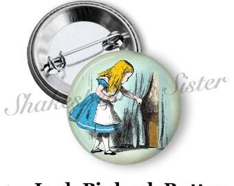 "Alice in Wonderland Pin - Pinback Button - 1.5"" Pinback - Alice in Wonderland Gift"