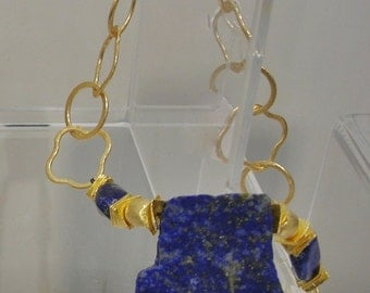 Classic Lapis and Gold necklace