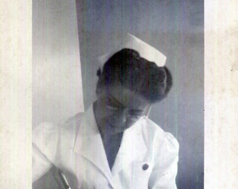 Vintage Photo..Nursing Notes 1950's, Original Photo, Old Photo Snapshot, Vernacular Photography, American Social History Photo
