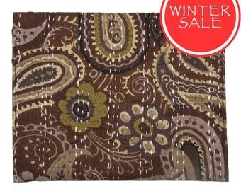 WINTER SALE - Tablet Sleeve / Clutch Bag - Brown Pattern