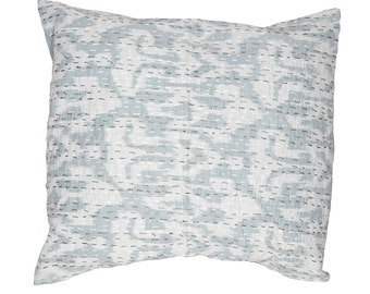 Cushion Cover - Pale Grey Ikat Design