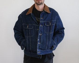 LEE Denim Union Made Blanket Lined Jacket Mens Large