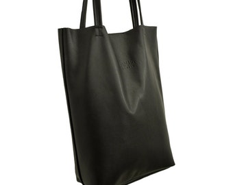 Leather bag BLACK Tote Bag hand bag
