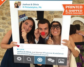 Social Media Photo Prop - Digital File - Printable PDF - Wedding Photo Prop Frame - Prom Proposal - Trade Show - Printed Option Available