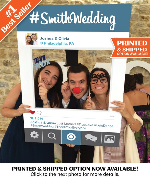 Social Media Photo Prop Frame Photo Booth Props Instaframe