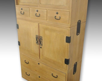 Japanese Kimono Tansu, Clothing Storage Chest