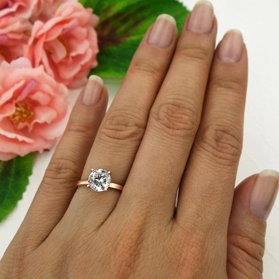 15 ct engagement ring solitaire ring man made diamond simulant 4 prong wedding - Wedding Ring Jackets