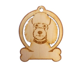 Poodle Ornament - Poodle Ornaments - Poodle Gift - Poodle Gifts - Poodle Memorial - Personalized Free