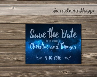 Starry Night Save The Date, Milky Way Wedding Invitation, Galaxy Wedding, Night Sky Wedding, Modern Stars Save The Date, Stars Wedding