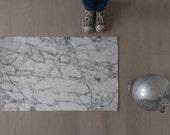 Marble rug / Contemporary rug / Bath rug / Minimalist design / White / Throw rug / Floor mat / Interior decor /Modern carpet / Made to order