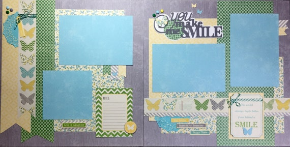 You make me Smile 12x12 2 Premade Pages or Kit