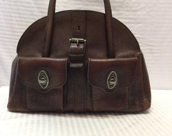 Vintage Brown Leather Purse, Bag, Handbag
