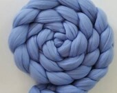 Hydrangea Blue Extrafine 16 micron Merino Wool Roving/combed top  - 4 ounces