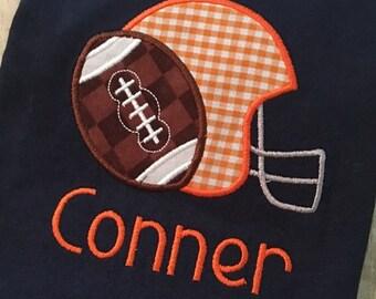 Football Applique Design - Helmet Applique Design - Sports Applique Design - Football Embroidery Design - Helmet Embroidery Design