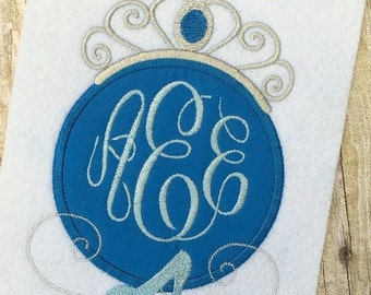Cinderella Applique Design - Princess Applique Design - Monogram Frame Embroidery Design - Applique Design - Embroidery Design