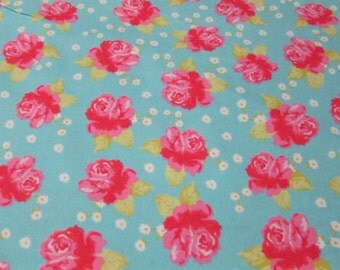 Flannel Fabric - Chic Floral - 1 yard - 100% Cotton Flannel