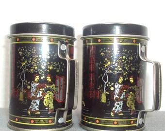 Asian Tin Salt & Pepper Shaker Set