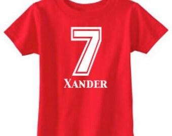 Number Shirt | 7th Birthday Shirt | Birthday Number Shirt | Birthday Party Shirt | 7 Shirt | Birthday Shirt | Personalized Birthday Shirt