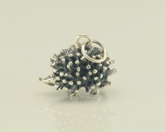Vintage Hedgehog Sterling Silver Pendant or charm 1/2 Inch Tall