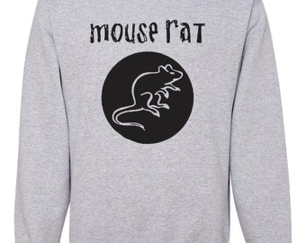 Mouse Rat band Crewneck Sweatshirt - Grey and Black - Parks & Rec - Unisex