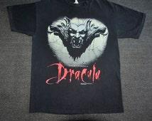 Vintage Bram Stoker's Dracula 1992 1990s horror romantic movie tee T shirt- M/L