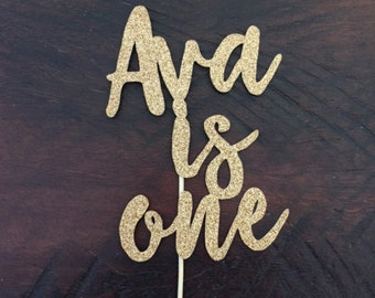 Custom Made Glitter Name Cake Toppers | Birthday Cake Toppers | Personalised With Any Name/Words/Age Cake Toppers