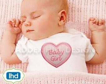 Newborn Embroidery Design -- Baby Girl Applique -- Newborn Applique -- Just Born Applique -- New Baby Applique Embroidery Design BA002