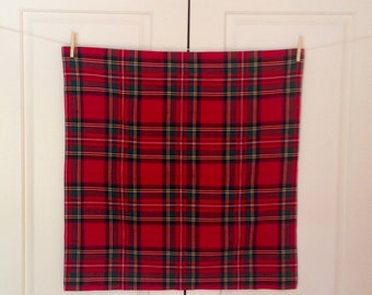 Tartan Pillow Shams, Made in Canada
