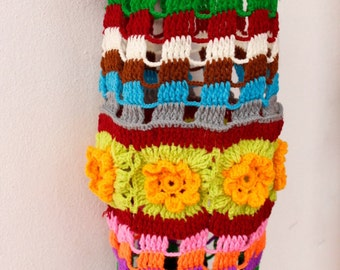 Crochet Lamp Shade, Round Mobile, Baby Crib Hanging, Colorful