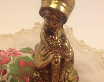 Holly Hobbie figure vintage brass bell