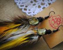 Civil Serpent Feather Earrings   (Cruelty FREE)