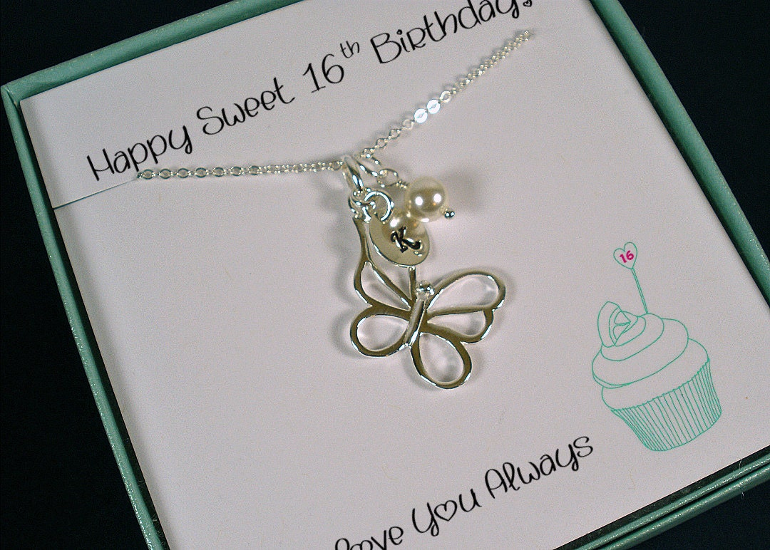 Personalized Sweet 16 Gift Sweet 16 Jewelry 16th Birthday