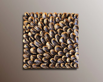Wall Decor - Wall Sculpture - Wall Panel - Textured Wall Art - Wall Hanging - 3D Wall Panel