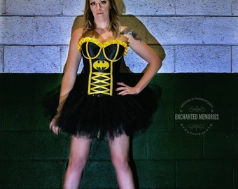 Black Tutu - Super Hero - Halloween tutu - Costume Tutu - Tulle Skirt - Comic Book Costume - Cos Play-Adult tutu -Marathon tutu-Running tutu
