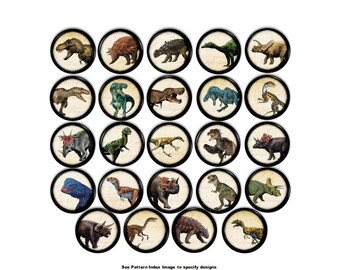 Dinosaur Dresser Knobs - Jurassic Boys Room, T-Rex, Tyrannosaurus, Velociraptor, Triceratops, Childrens, Kids Cabinet Drawer Pulls - 816D1