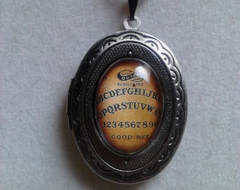 Ouija inspired locket necklace