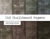 Chalkboard Digital Paper Pack, Old Distressed Worn Background, Weathered Wallpaper, Wedding, Birthday Card Making, Scrapbooking