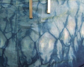 Cotton apron, hand-dyed indigo, Japanese shibori