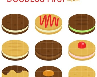 Cookie Sandwiches Clip Art for Scrapbooking Card Making Cupcake Toppers Paper Crafts